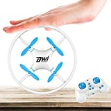 Dwi Dowellin Mini Drone Crash Proof RC Quadcopter One Key Take Off Flips Rolls Nano Drones Toys for Kids Children Beginners, Comes with Carrying Case