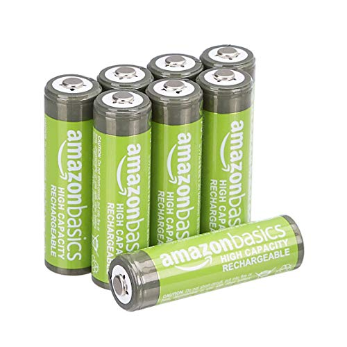 Amazonベーシック 充電池 高容量充電式ニッケル水素電池単3形8個パック(充電済み、最小容量 2400mAh、約500...