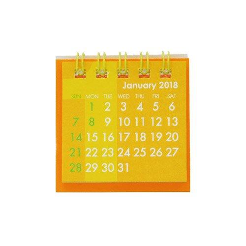 【2018年版・卓上】 Z&K(ゼットアンドケイ) ミニミニ カレンダー 68−800 オレンジ