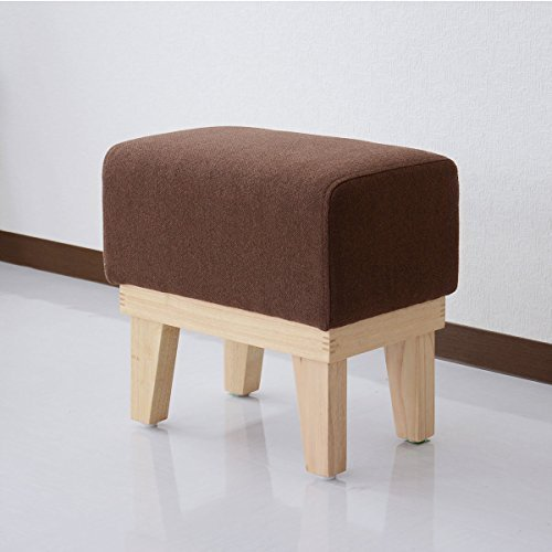 (DORIS) スツール 【プチ クレール ブラウン】 丸みのあるデザイン 天然木フレーム 軽量4kg (KIC)