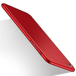 【Humixx】iPhone8 ケース iPhone7 ケース 薄型 軽量 耐衝撃 PC素材 指紋防止 ガラスフィルム付属 レッド