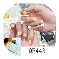ネイルズステッカー14Tipsイチゴステッカーネイルアートラップマニキュアインスタイルステッカー接着剤マニキュア装飾、Qf443