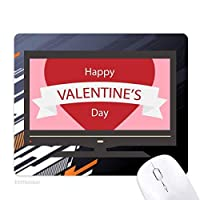 幸せなバレンタインデー・ピンク・赤 ノンスリップラバーマウスパッドはコンピュータゲームのオフィス