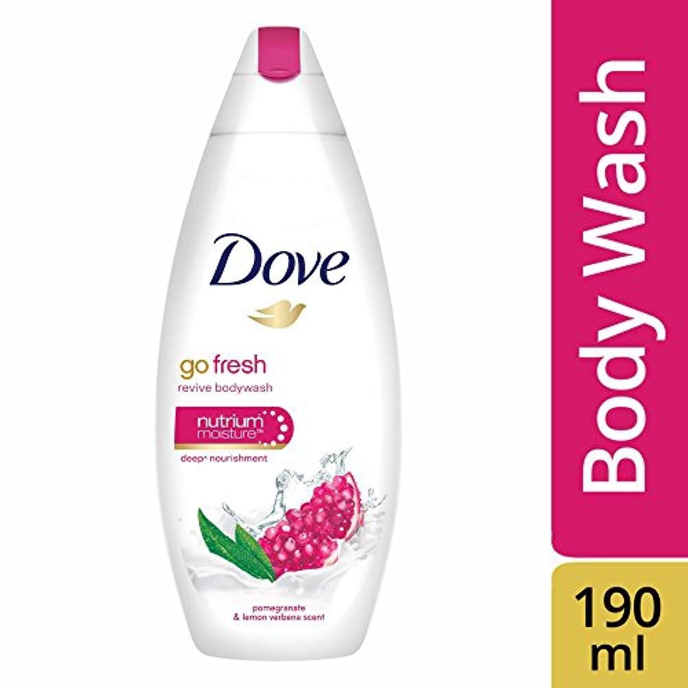 反応する大砲クリープDove Go Fresh Revive Body Wash, 190ml