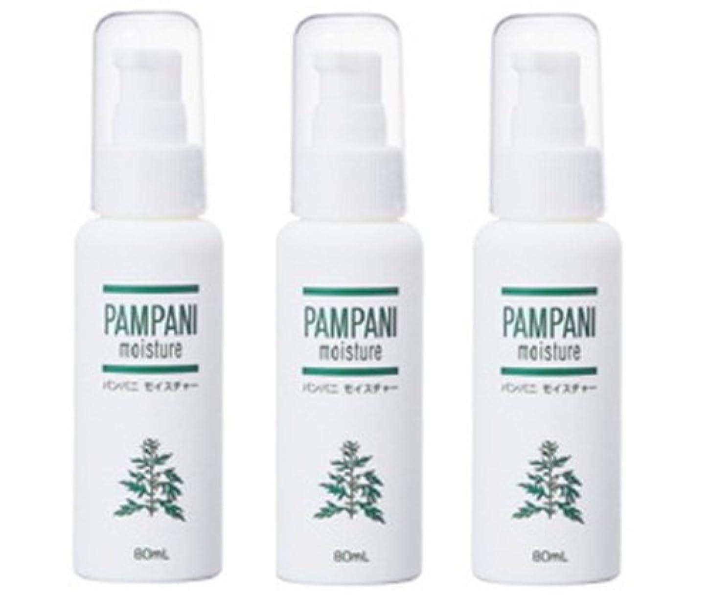 騙すビクター呼吸するパンパニ(PAMPANI) モイスチャー 80ml× 3本組