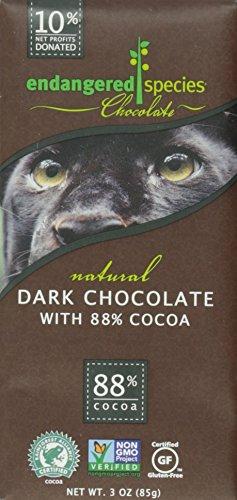 Endangered Species Chocolate チョコレートシリーズ 3 oz (85 g) ナチュラルダーク