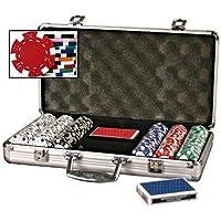 のセット300 Diceストライプ11.5 Gram Poker Chips with 6 Dealerボタン