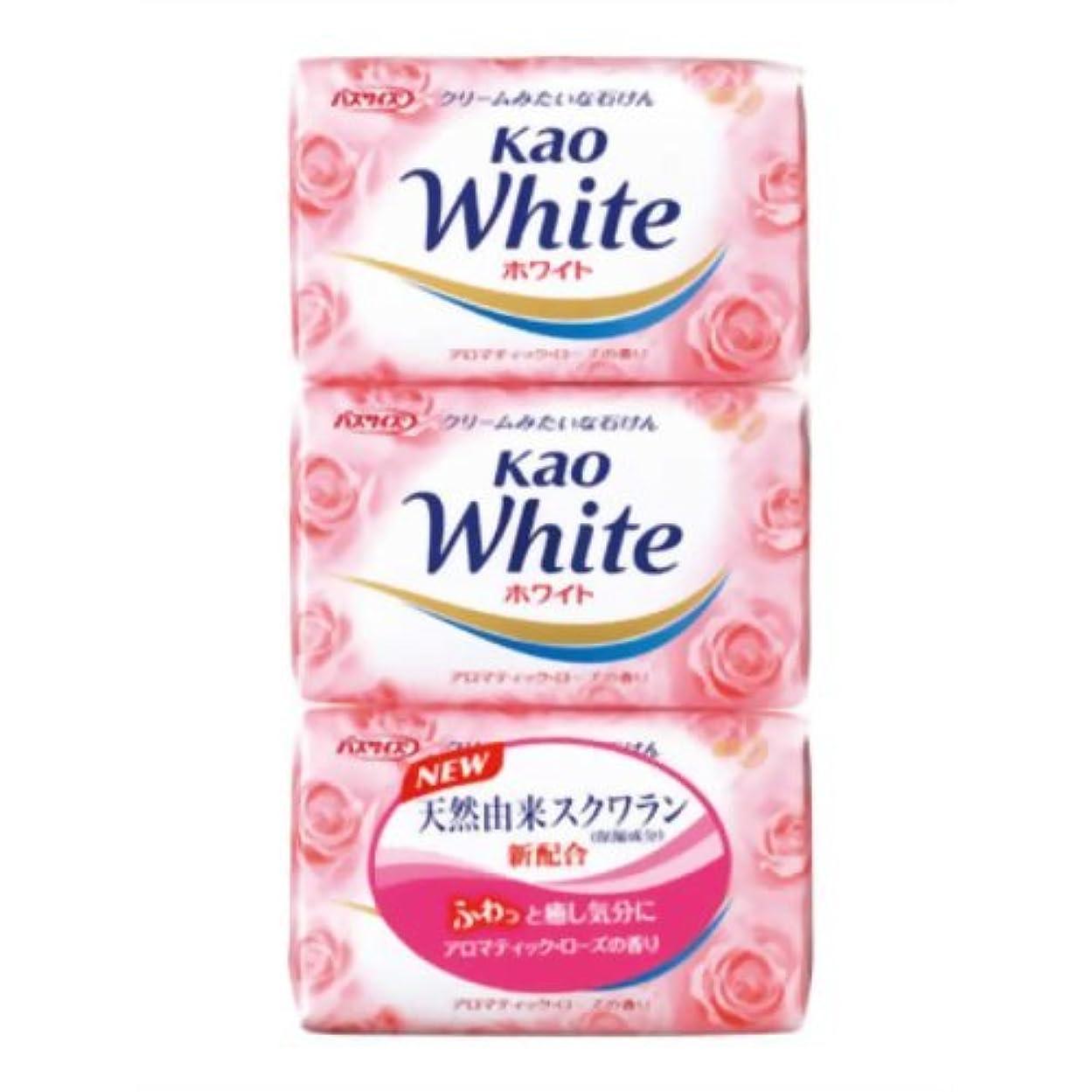 母音ウサギ家畜花王ホワイト アロマティックローズの香り バスサイズ 130g*3個入