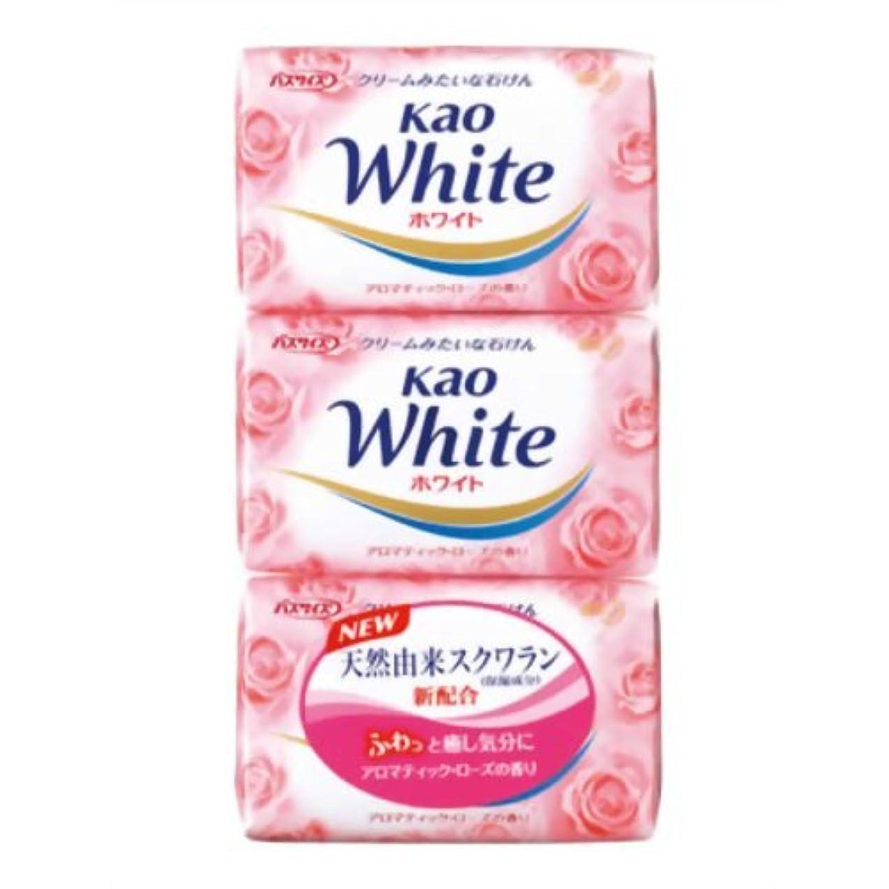 絶え間ないブーストミトン花王ホワイト アロマティックローズの香り バスサイズ 130g*3個入