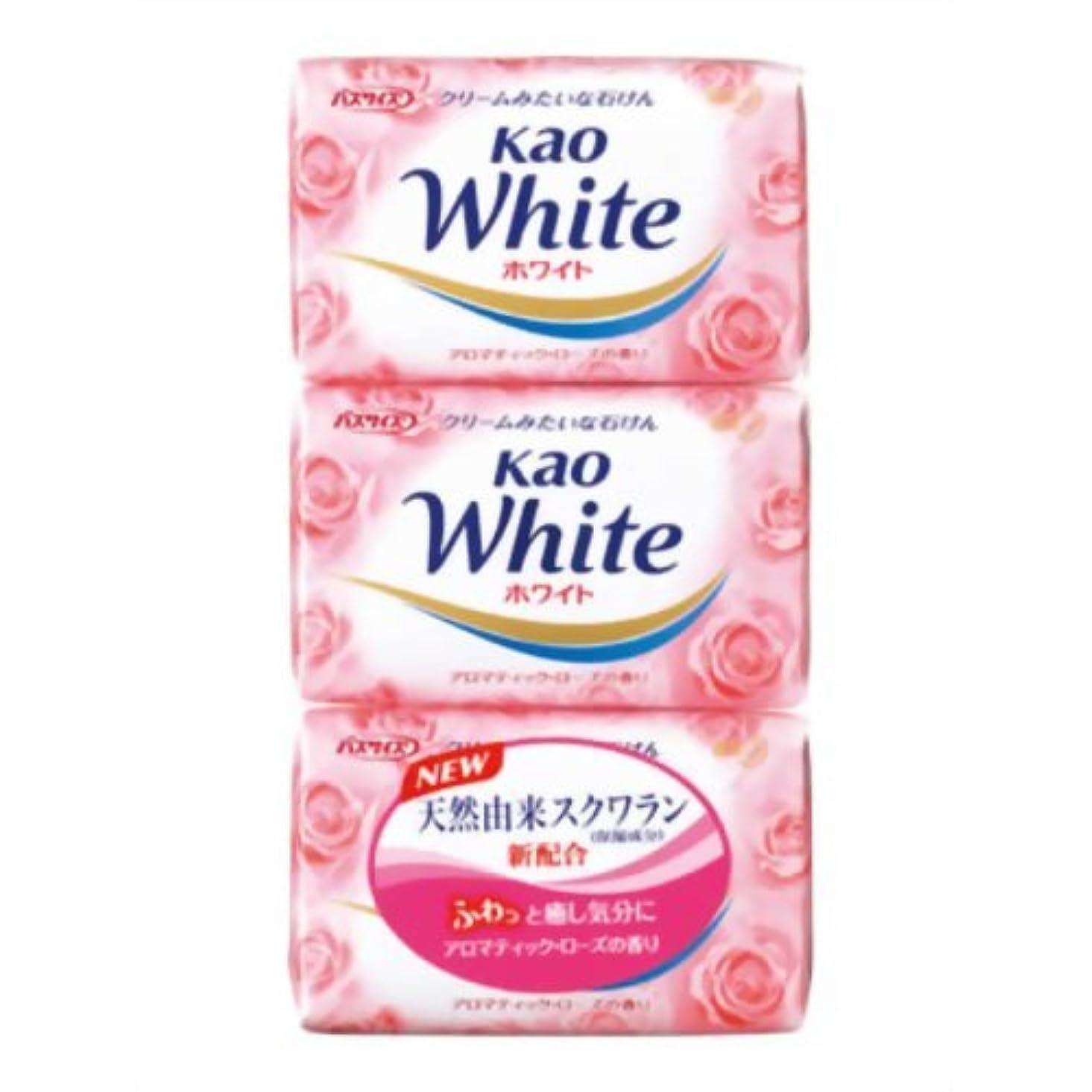 夜雪だるましみ花王ホワイト アロマティックローズの香り バスサイズ 130g*3個入