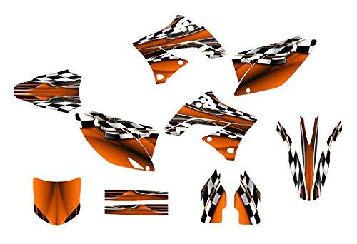 カワサキkx450FグラフィックスデカールキットFits 2009–2011by Allmotorgraphics no2500オレンジ