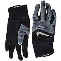 (ナイキ) NIKE メンズ手袋?グラブ?グローブ Printed Dri-Fit Tempo Run Gloves Black/Armory Blue/Silver M