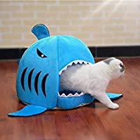 Lowis Lily Summer Dog Bed Pet Cat Bed Shark Cats Beds House for Large Medium Small Dogs Pet Beds Puppy Shark Kennel Chihuahua Pets House