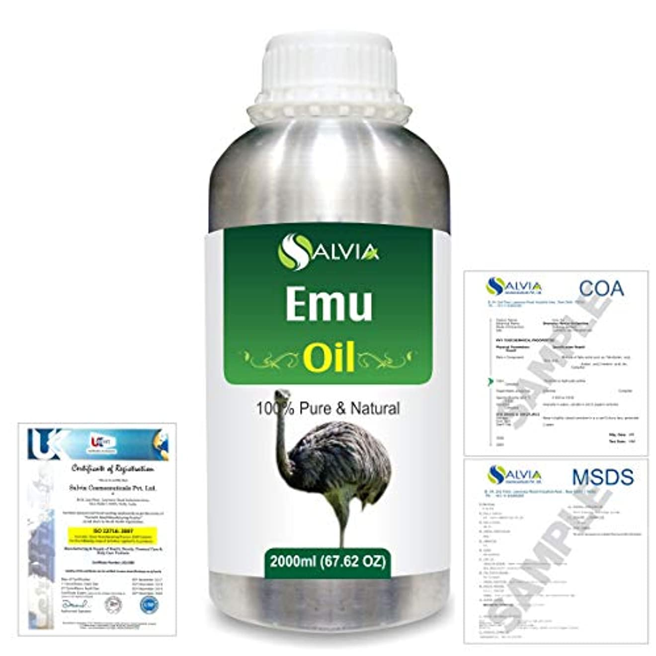 学士重要の間でEmu 100% Natural Pure Oil 2000ml/67 fl.oz.