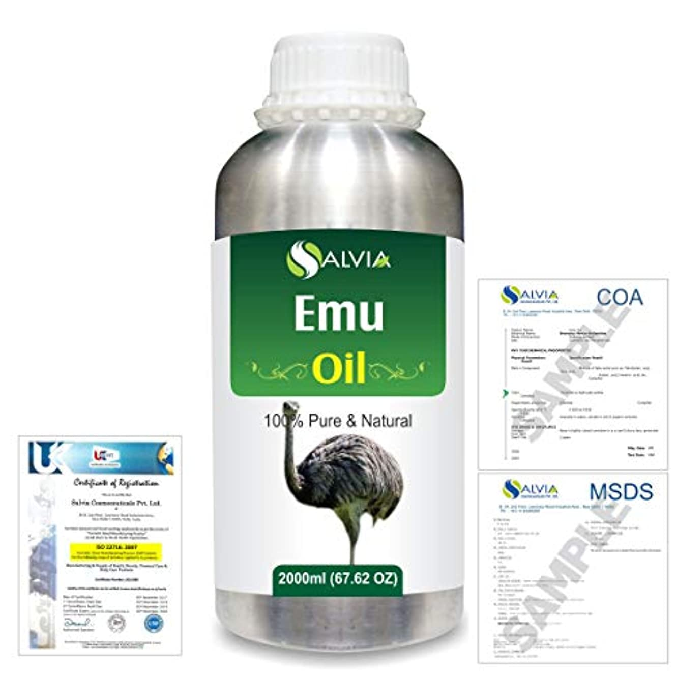 発生器個人導入するEmu 100% Natural Pure Oil 2000ml/67 fl.oz.