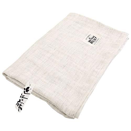 昭和西川 ガーゼケット グレー 140×190㎝ 夏の1枚 近江の本麻2重織りガーゼケット 2230379212935