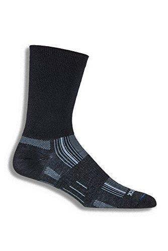 WRIGHTSOCK(ライトソック) STRIDE (ストライド) Crewタイプ(クルータイプ)2重構造 靴下 中厚手 靴擦れ防止 靴ムレ防止 ブラック W0006BLL ブラック Large (26.5~29.5cm)
