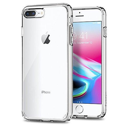 【Spigen】 スマホケース iPhone8 Plus ケース/iPhone7 Plus ケース 対応 全面クリア 耐衝撃 米軍MIL規格取得 ウルトラ・ハイブリッド2 043CS21052 (クリスタル・クリア)