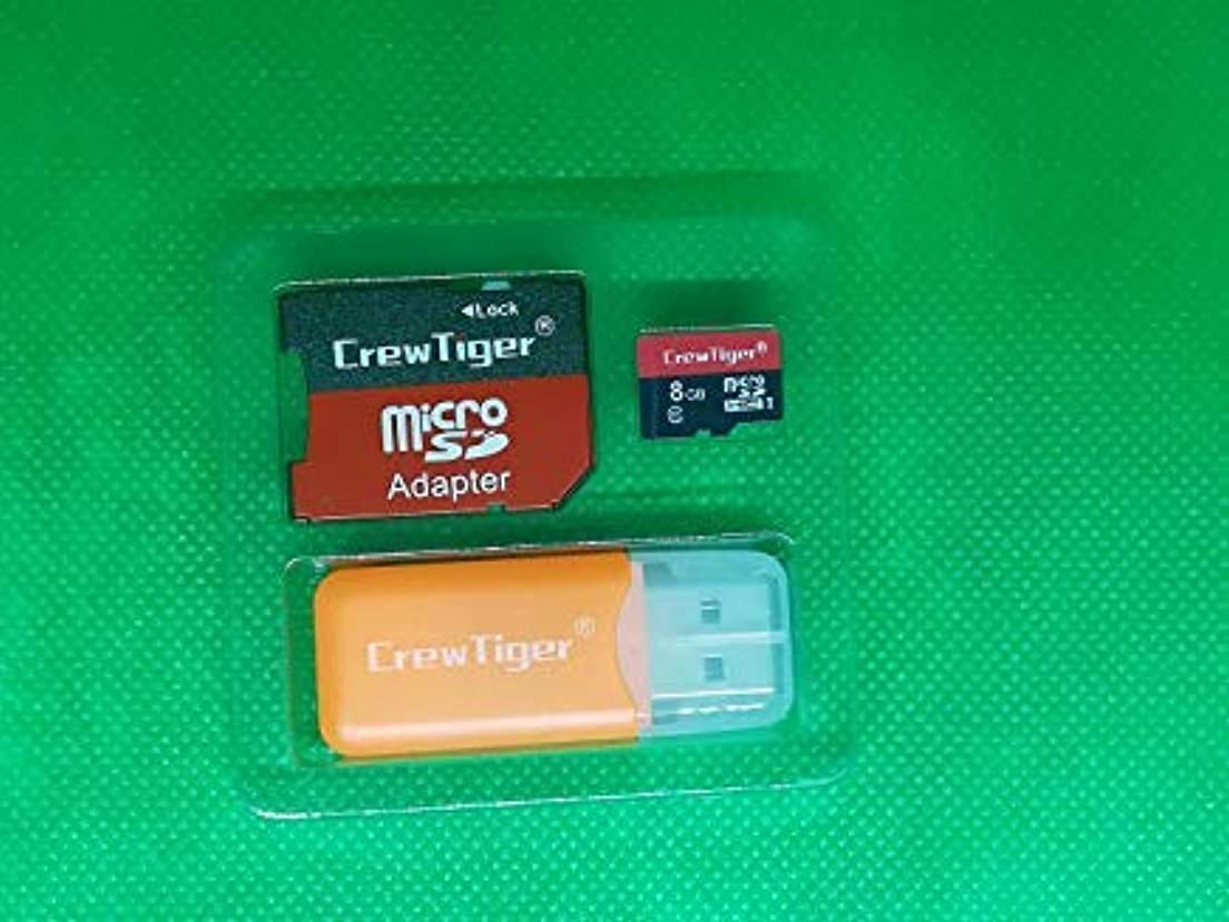 不足楽しませる性能C rewTiger Micro 8 GB Class 10 TF フラッシュメモリーカード アダプター+カードリーダー 10 Pcs WLY-1