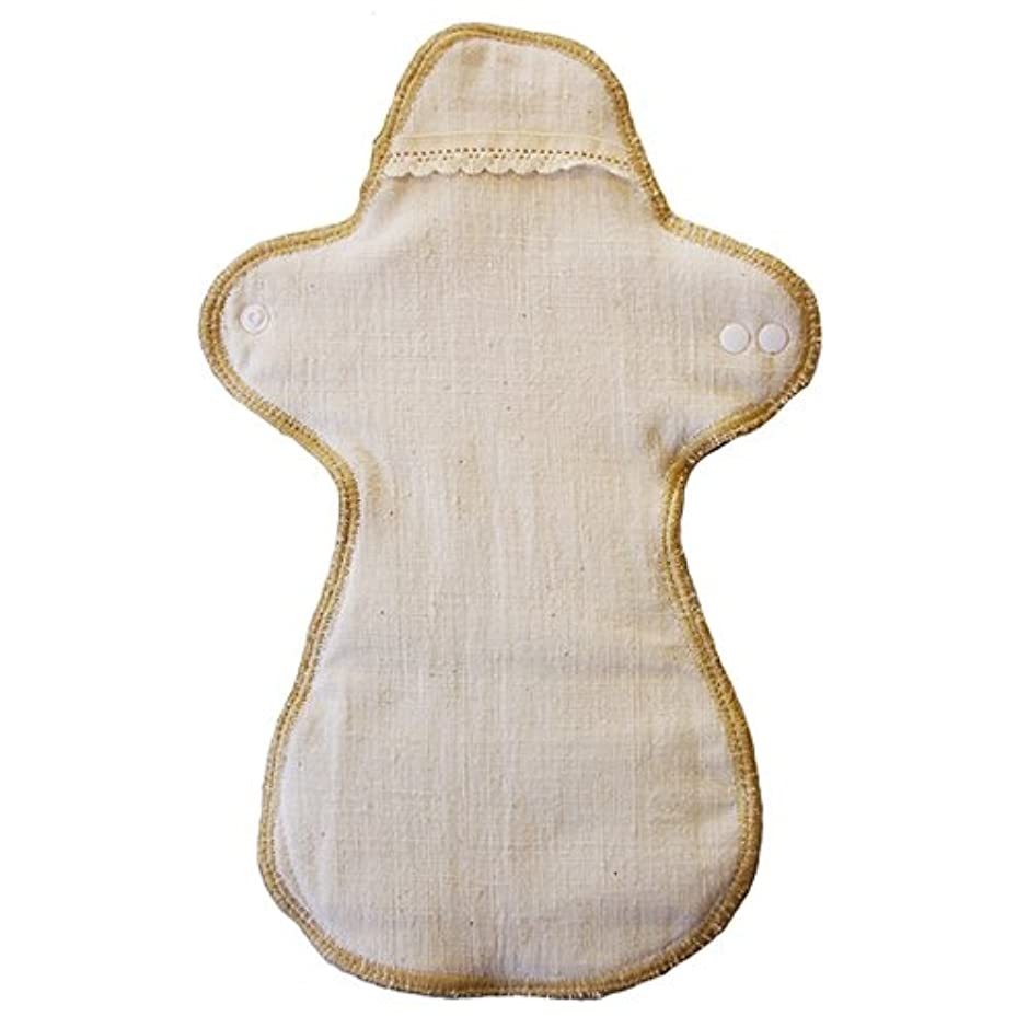 祝福添加抜け目がない布ナプキン おつきさま(夜用)生成 益久染織研究所の手紡ぎコットン布のなぷきん