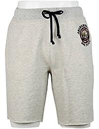 アバクロンビー&フィッチ Abercrombie & Fitch S M クリックポストで ショートパンツ short pants ロゴ ホワイトグレー [並行輸入品]