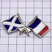 限定 レア ピンバッジ スコットランドとフランス国旗 ピンズ フランス