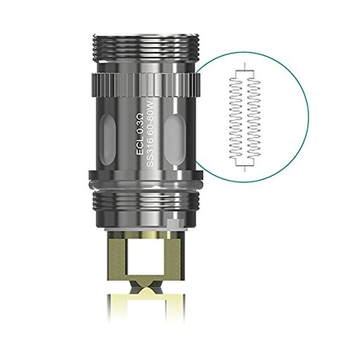 ホットセクション下線(イーリーフ) Eleaf Meloシリーズ 専用コイル ECLヘッド SS316 電子タバコ コイル メロ 0.3Ω 5個セット