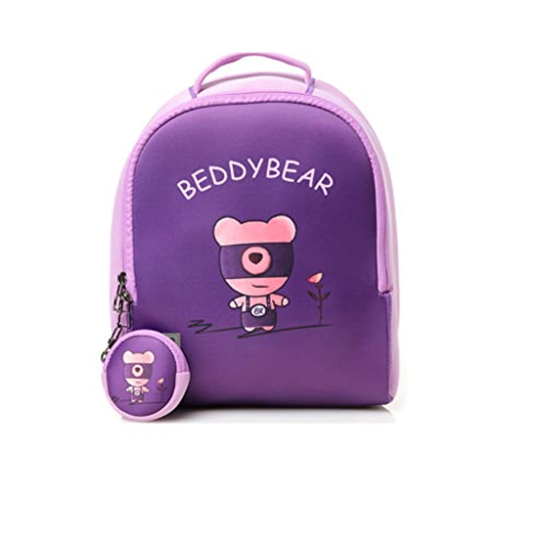 CXQ かわいい子供の学校のバックパック紫色の豚の漫画動物の少年少年3?8歳の子供の学校の動物のバックパック