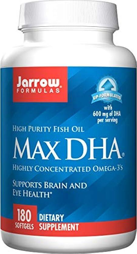 読む発送ベスト海外直送品 Jarrow Formulas Max DHA, 180 Softgel 607 MG