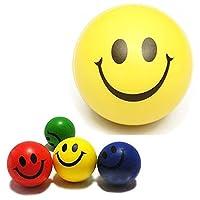 RETYLY 3xストレスボール ストレス解消ボール クランチボール リラックスボール ハンドトレーナー フィンガートレーナー 笑顔レリーフスクイズボール面白い顔の玩具(ランダムな色)