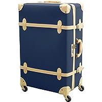 FIELDOOR TSAロック搭載 ヴィンテージ風 トラベルキャリーケース スーツケース Sサイズ/Mサイズ/Lサイズ 四輪 超軽量 アンティーク調内装