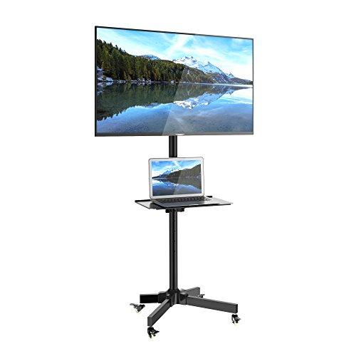 1homefurnit テレビ台 液晶TVスタンド 壁寄せ ディスプレイスタンド 23-55インチ対応 ハイタイプ キャスター付き 移動式