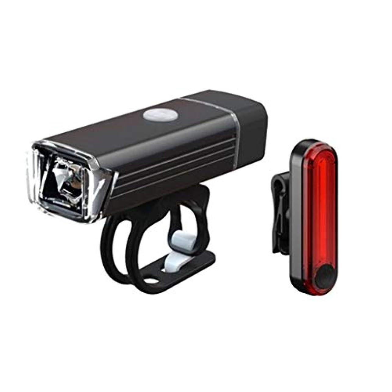 演じるためらう難破船自転車ライトセット USB充電式、新しい 自転車ヘッドライトテールライト 防水 LED サイクリング、自転車ライト