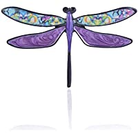 Meicem Dragonfly Brooch- Colorful Pretty Enamel Brooch Pin Charm Girls' Women Pin Jewelry