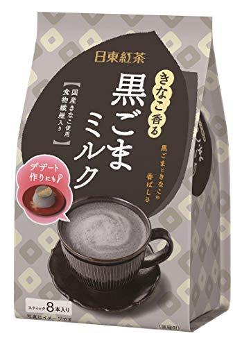 日東紅茶 きなこ香る黒ごまミルク 8本 ×4袋