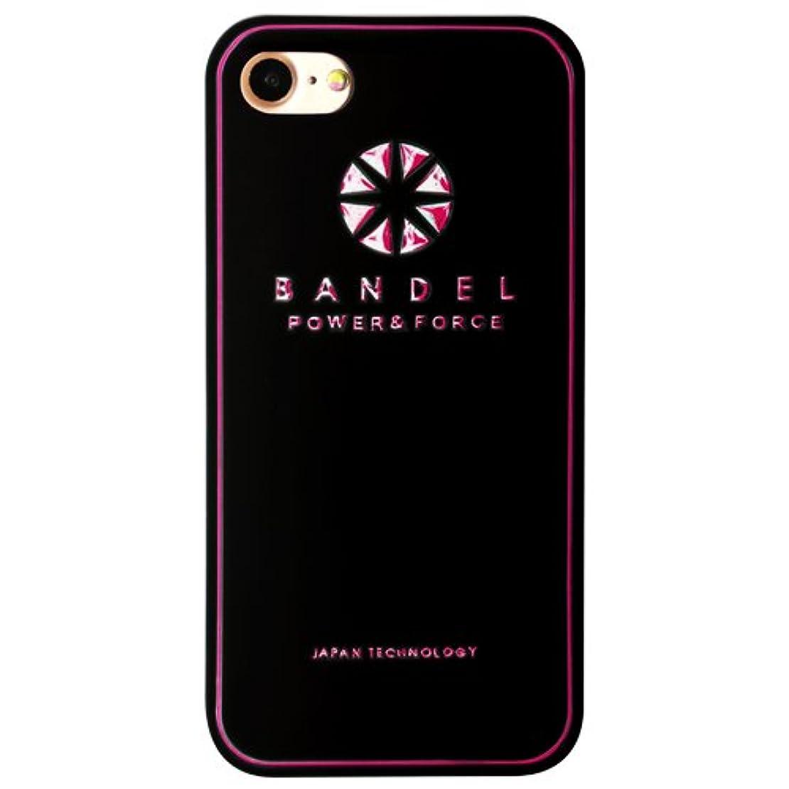 ビートペグ相対的バンデル(BANDEL) ロゴ iPhone 8専用 シリコンケース [ブラック×ピンク]