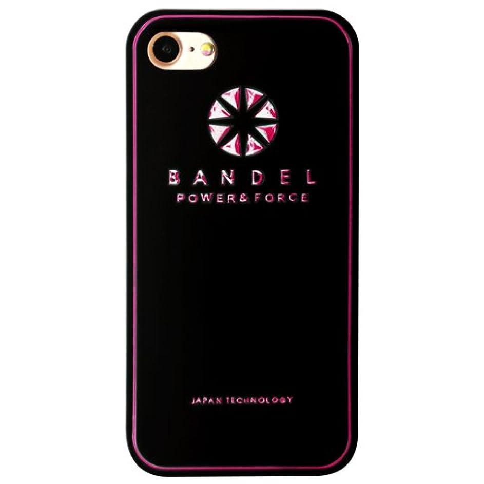 ディレクトリ極小みなすバンデル(BANDEL) ロゴ iPhone 8 Plus専用 シリコンケース [ブラック×ピンク]