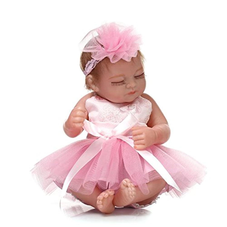 baynne 10インチフルシリコンSleeping Rebornベビー人形Alive LifelikeモヘアDolls