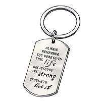 インスピレーションキーチェーン卒業ギフトYou Were GivenこのLife Because You Are Strong Enough to Live It
