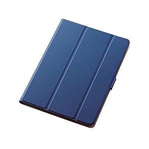 エレコム iPad ケース 新型 iPad 9.7 2018(第6世代・新しい9.7インチiPad)/2017 フラップカバー ソフトレザー 360度回転 スリープ対応 ブルー TB-A179WVSMBU