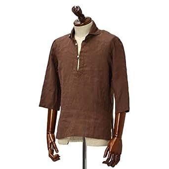 Mario Muscariello【マリオムスカリエッロ】 カプリシャツ R2MC0146 リネン ブラウン(L)