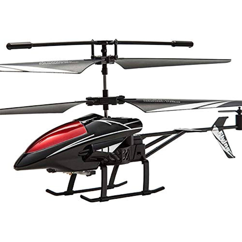Springdoit アンチ秋RCヘリコプター航空機モデルミニ2.5CH合金ヘリコプタークリスマスギフト屋外玩具(黒)