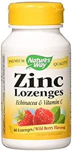 Zinc/Echinacea&Vitamin C Lozenges-Berry Flavor Nature's Way 60 Lozenge by Nature's Way