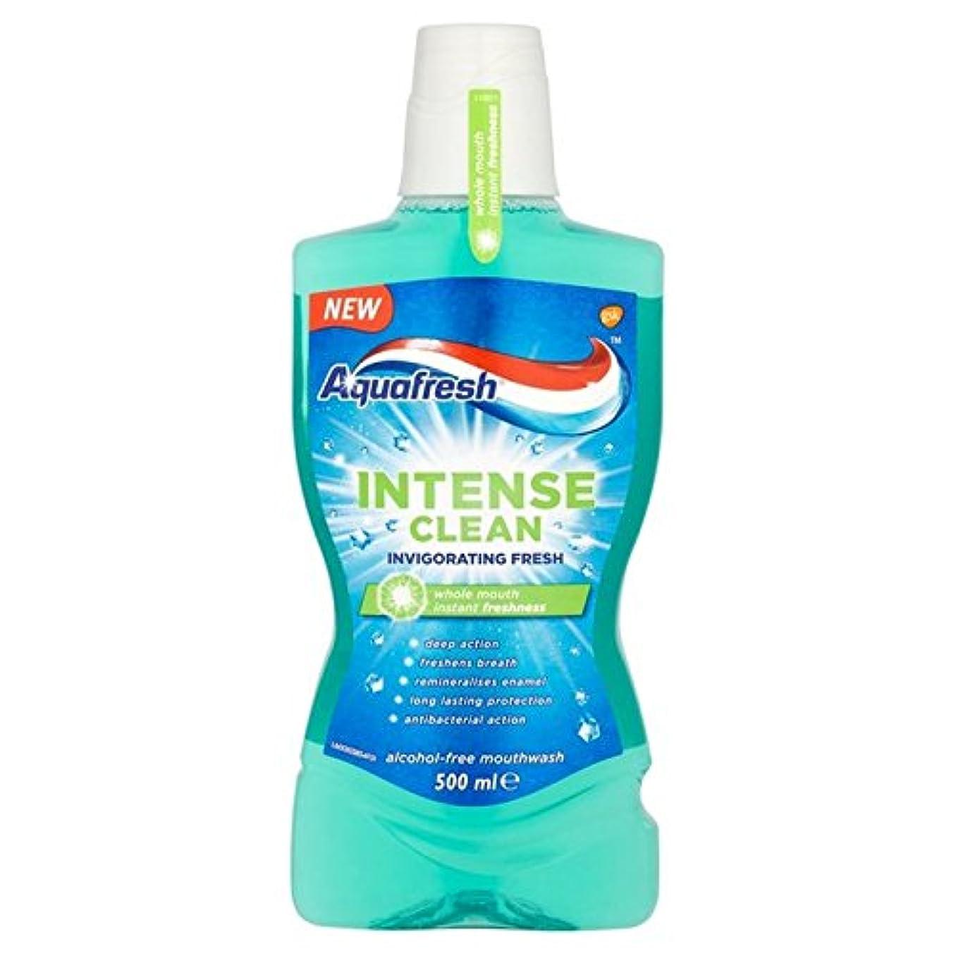 わな残酷な設計図アクアフレッシュ強烈なきれいな爽快ウォッシュ500ミリリットル x4 - Aquafresh Intense Clean Invigorating Wash 500ml (Pack of 4) [並行輸入品]