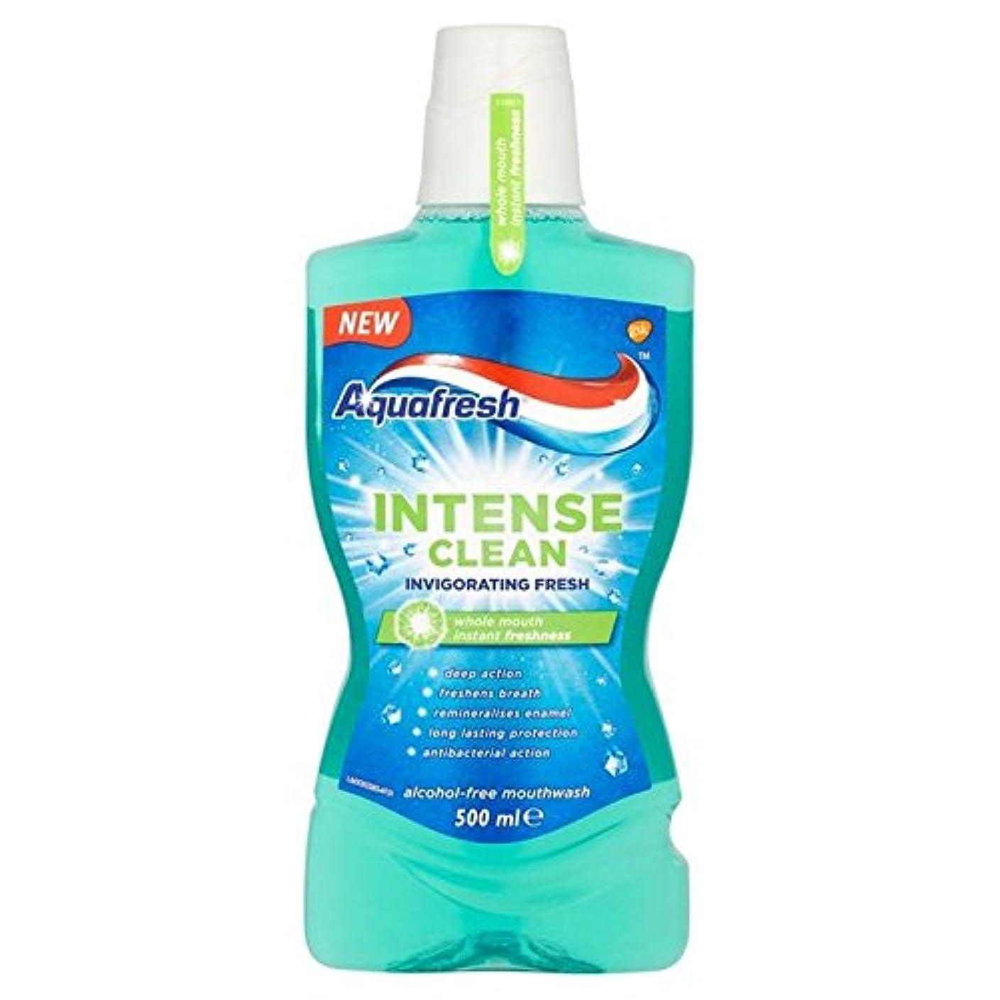 コンセンサス地上の見えないアクアフレッシュ強烈なきれいな爽快ウォッシュ500ミリリットル x2 - Aquafresh Intense Clean Invigorating Wash 500ml (Pack of 2) [並行輸入品]