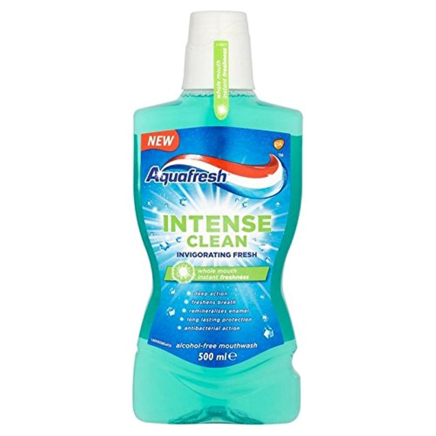 放課後忘れられない不公平Aquafresh Intense Clean Invigorating Wash 500ml - アクアフレッシュ強烈なきれいな爽快ウォッシュ500ミリリットル [並行輸入品]