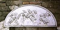 レリーフ イタリア製 天使の半月レリーフ オーナメント