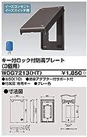 東芝ライテック プレート鍵付防滴3コ用HT グレー WDG7213(HT)【受注生産品】