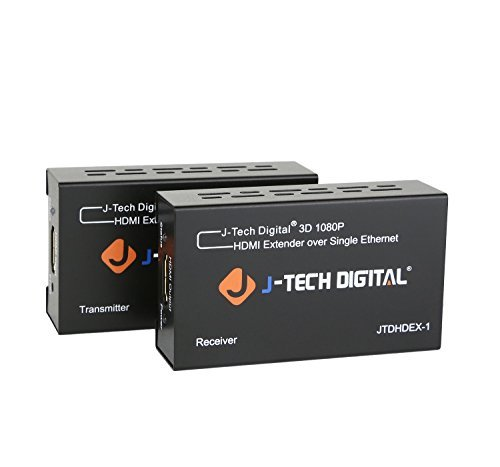 JTD HDMI エクステンダー 60M HDMI 延長器 1080i/1080P/3D/DTS-HD/Dolby-true/HDCP対応 HDMI延長 アダプタ 一本のLANケーブルCAT5E/CAT6/CAT6A/CAT7 Ver1.3 HDMI Extender
