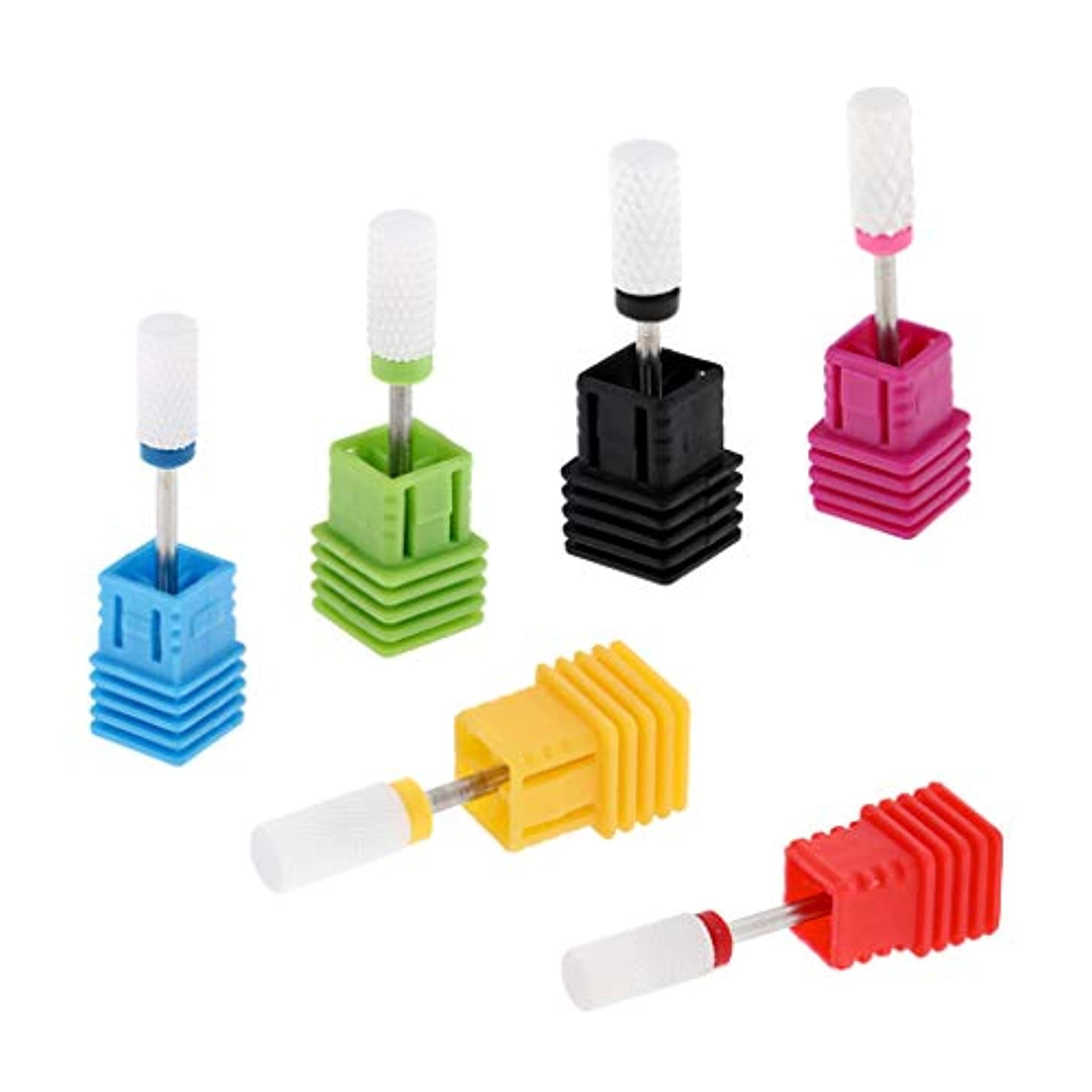 電信捧げる連鎖gazechimp ネイルアートドリルビット 研磨ヘッド 電気ドリルビット 高硬度 6個